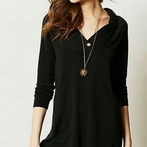 Anthropologie | Braided Brynn Black Tunic Sweater